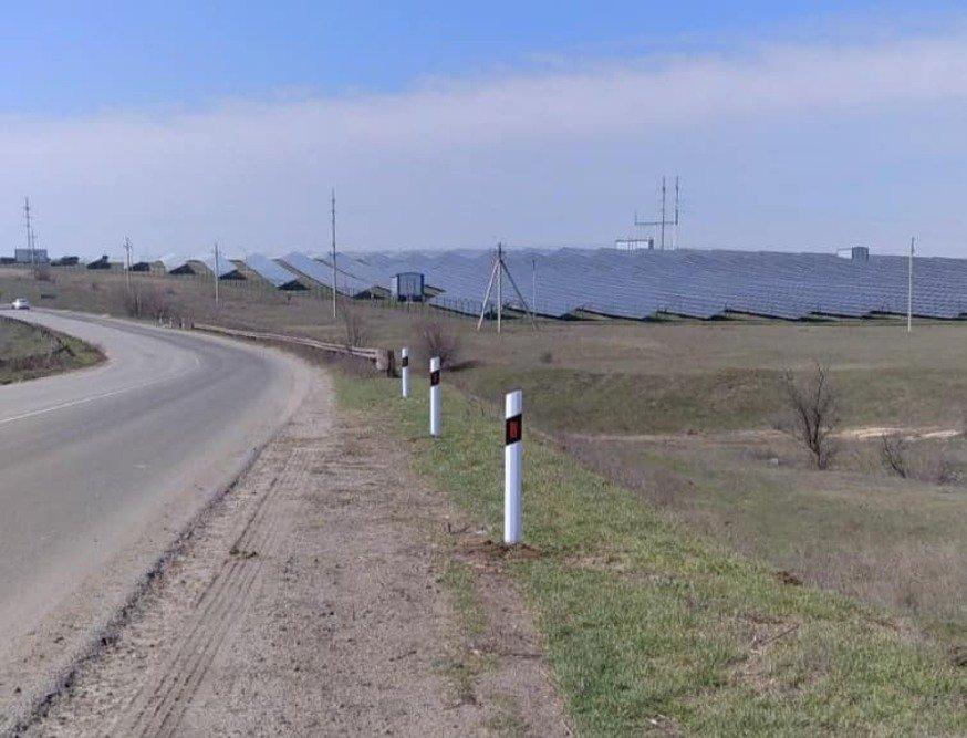 В районе села Мешково-Погорелово дорожники выполняют ремонтные работы