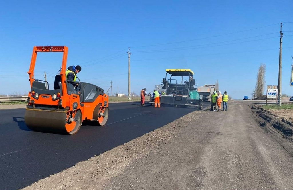 На участке от Зайчевского моста до Баштанского кольца проходят дорожные работы
