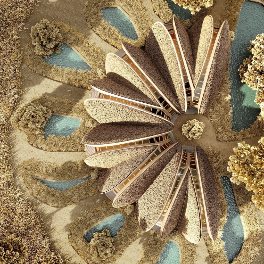 В Коблево реализуют интересный проект: дома в форме мидий