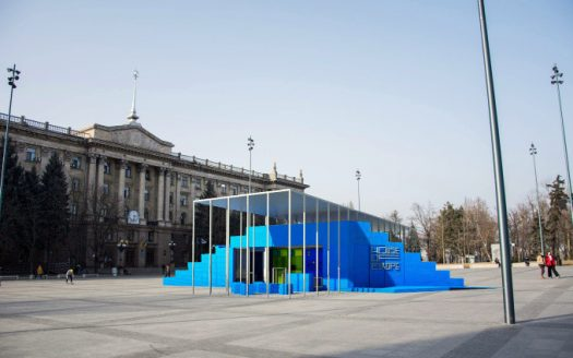 В Николаеве начал работать мобильный павильон House of Europe